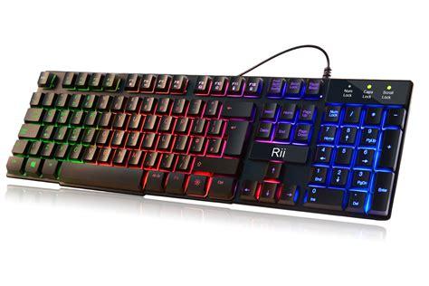 Keyboard Gaming Led mechanical feeling gaming keyboard backlit usb wired led 7