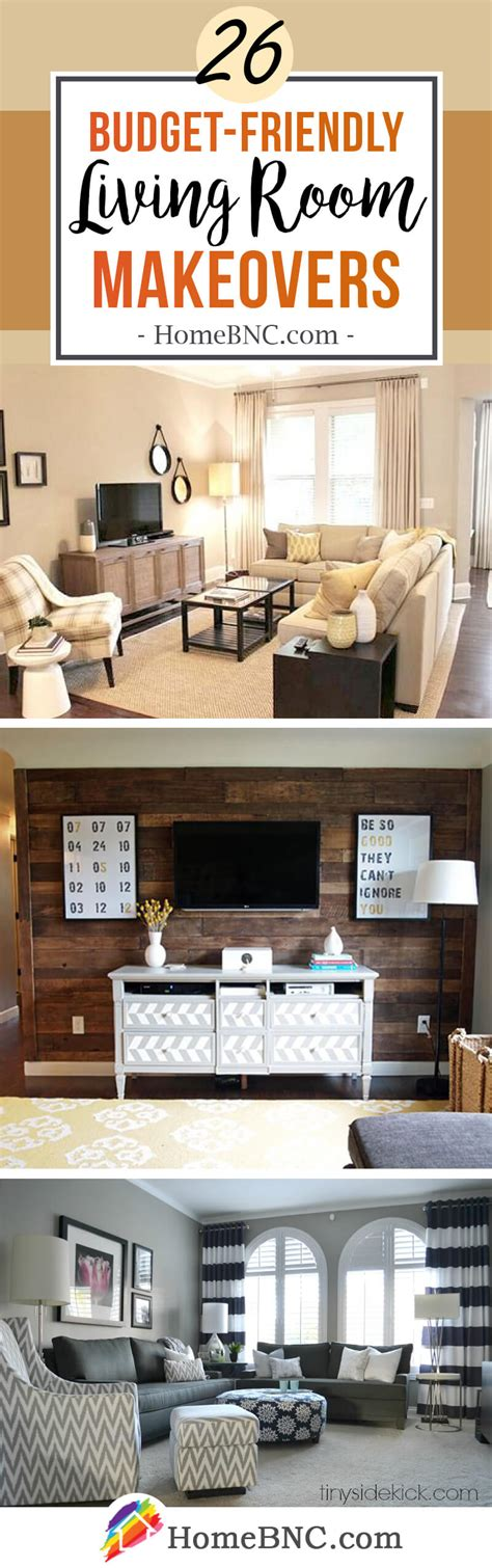 Living Room Makeovers Ideas - 26 best budget friendly living room makeover ideas for 2017