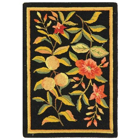1 X 2 Ft Rug by Safavieh Chelsea Black 1 Ft 8 In X 2 Ft 6 In Area Rug