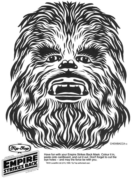 printable chewbacca mask free coloring pages of star wars masks