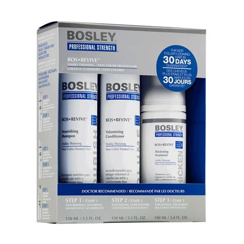 bosley pro bosrevive 30 day kit hsn revive 30 day starter pack for non color treated hair
