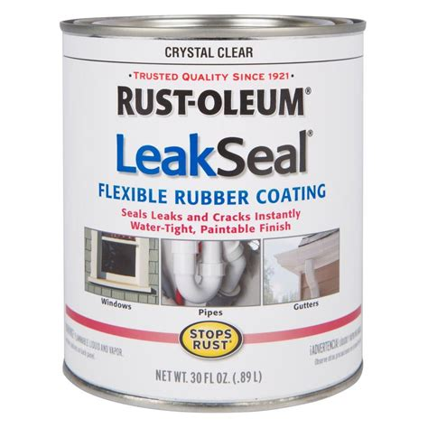home depot paint on rubber rust oleum stops rust 30 oz leakseal clear