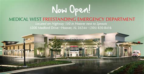 free standing emergency rooms freestanding emergency department hoover al west hospital