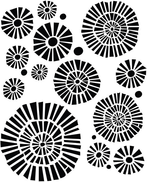 Stencils Patterns Archives Alabama Chanin Journal Ornament Stencil Template