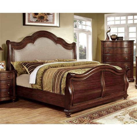 california king sleigh bedroom set furniture of america marcella california king upholstered