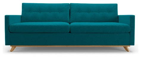 turquoise sleeper sofa hopson sleeper sofa lucky turquoise blue midcentury
