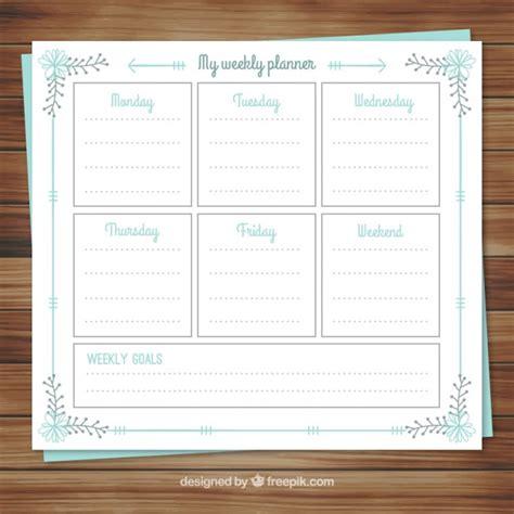 Weekly Calendar Planner Calendar Weekly Planner In Floral Style Vector Free