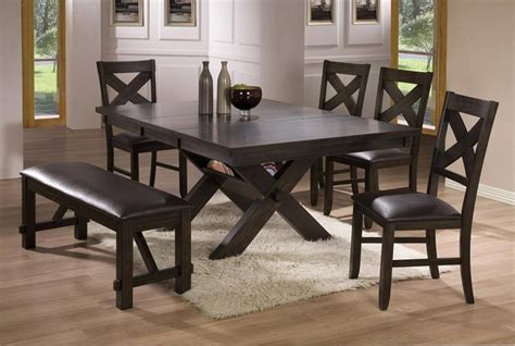 dining room sets bench dining room tables with benches homesfeed