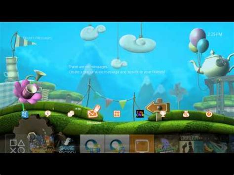 ps4 themes little big planet 3 ps4 dynamic theme little big planet 3 youtube
