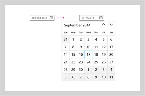 Date And Time Calendar Guidelines For Date And Time Controls Uwp App Developer