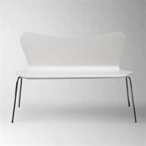 bench west elm scoop back bench contemporary dining benches by west elm
