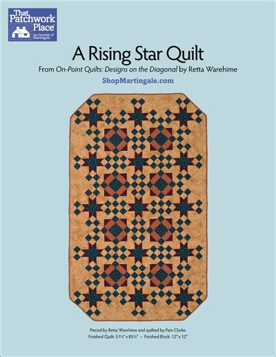 rising star pattern grading system martingale a rising star quilt epattern