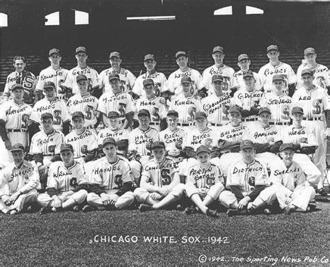 thedeadballera 1942 chicago white sox team photo