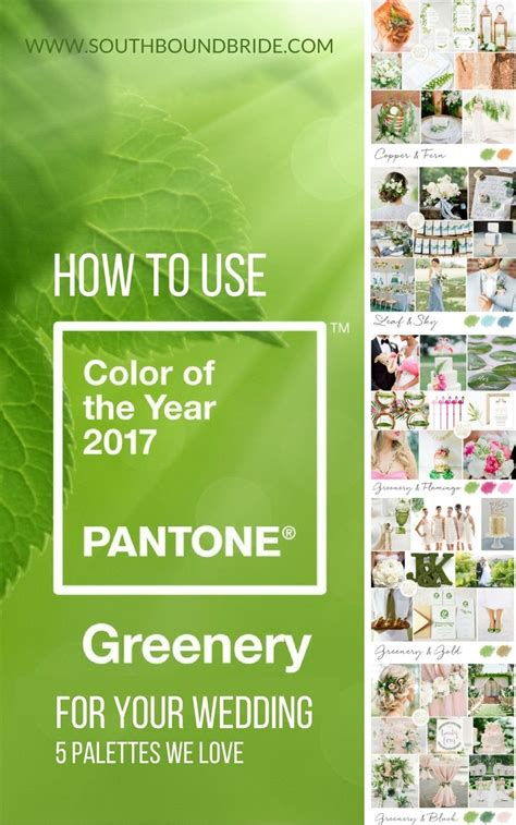 colour of 2017 greenery pantone color of the year 2017 southbound bride