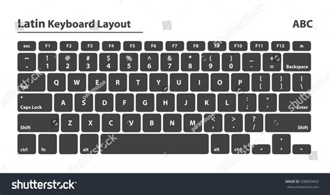 nederlands keyboard layout latin alphabet keyboard layout set isolated stock vector