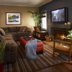 cozy small family room gray and brown walls small