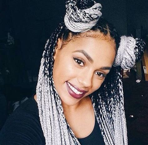 black to grey ombre box braids hairstyles pinterest the world s catalog of ideas