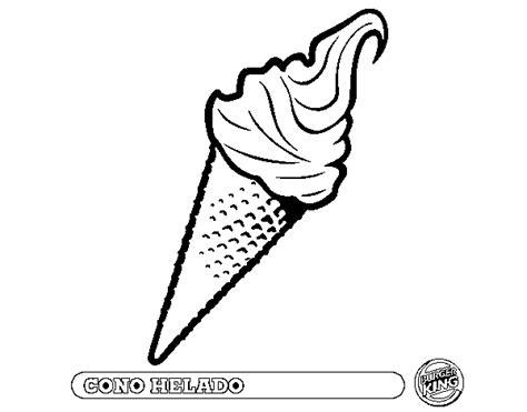 imágenes para dibujar helados dibujo de cono helado para colorear dibujos net
