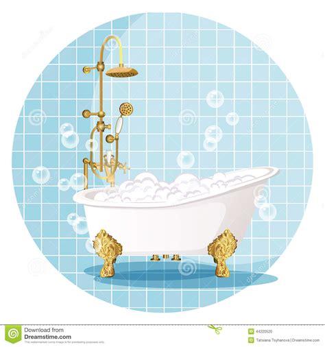 bathtub illustration bath vector illustration stock vector image 44220520