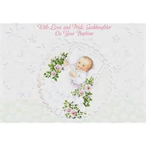 baptism greeting card goddaughter the catholic company