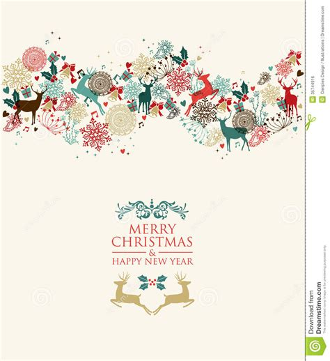 new year illustration merry and happy new year illustration stock
