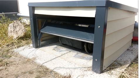 rasenroboter garage selber bauen m 228 hroboter garage als wetterschutz m 228 hroboter kaufen