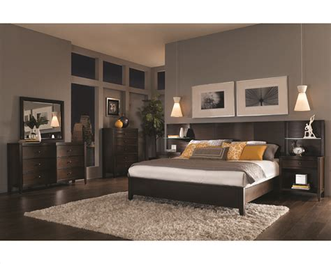 Bedroom Furniture Headboards Aspenhome Bedroom W Curved Headboard Bed Contour Asi11
