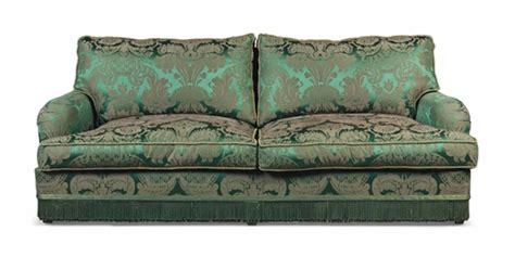 green floral sofa a green floral silk damask sofa supplied by jacques