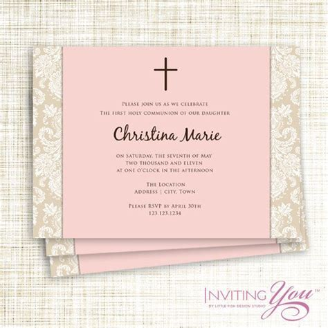 confirmation invitations templates christening communion or confirmation invitation