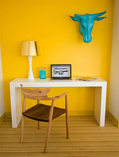 Office Desk Colors Yellow Office With White Desk Interior Design Center
