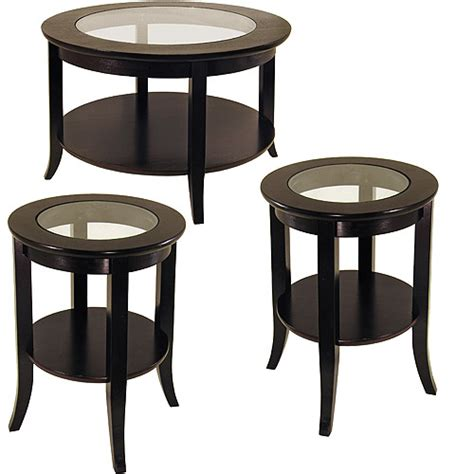 genoa 3 coffee end tables value bundle espresso