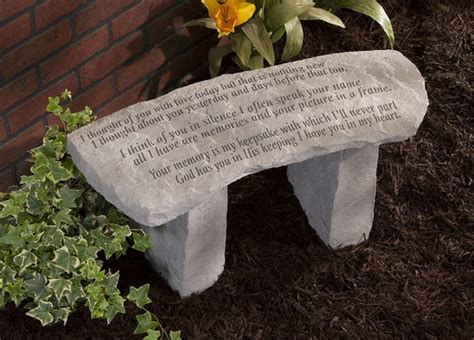 personalized memorial benches small pet memorial garden ideas photograph memorial garden