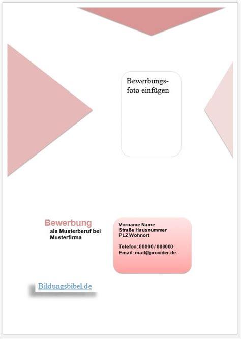 Deckblatt Vorlagen Blau deckblatt muster vorlage f 252 r die bewerbungsmappe
