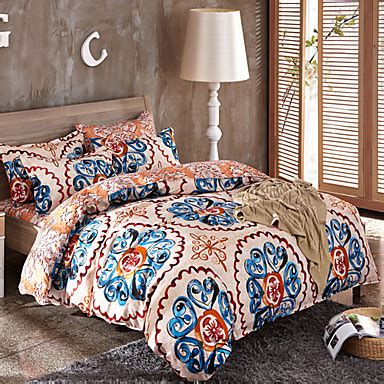 Multi Color Duvet Cover by Paisley Design Pattern Multi Color Bedsheet Pillowcases