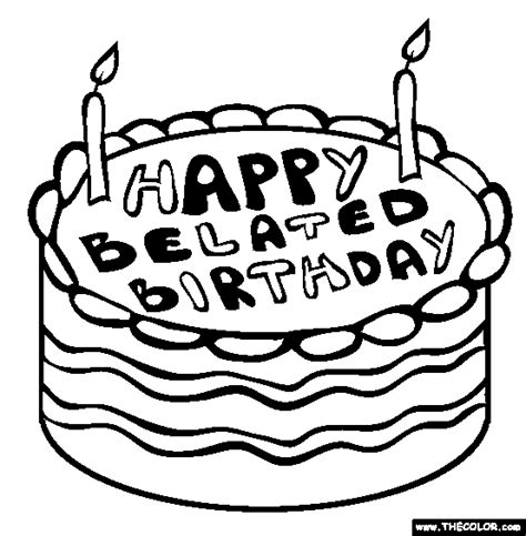 birthday wishes coloring pages belated birthday wishes page 3 nicewishes com