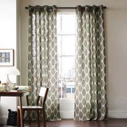 window curtains drapes ikat ogee linen window panel modern curtains by west elm