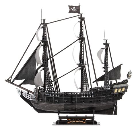 Pirate Ship Papercraft - cubicfun 3d puzzle t4018h s blackbeard
