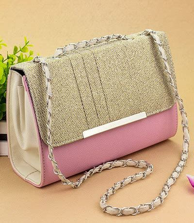 Tas Bahu Tali Panjang Kuliah Pink Wanita Korea Import Kulit tas pesta bg411 pink tamochi toko baju wanita murah dan grosir fashion aksesoris korea dan