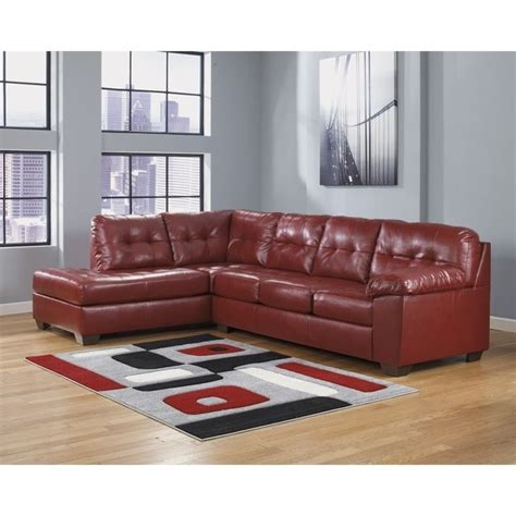 durablend leather sectional ashley furniture alliston durablend 2 piece leather