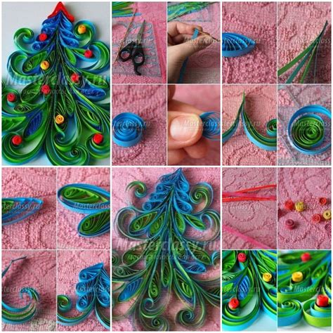quilling craft tutorial how to make quilled christmas tree card making projects