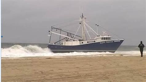 sport fishing boat captain jobs fishing boat grounded on point pleasant beach abc7ny