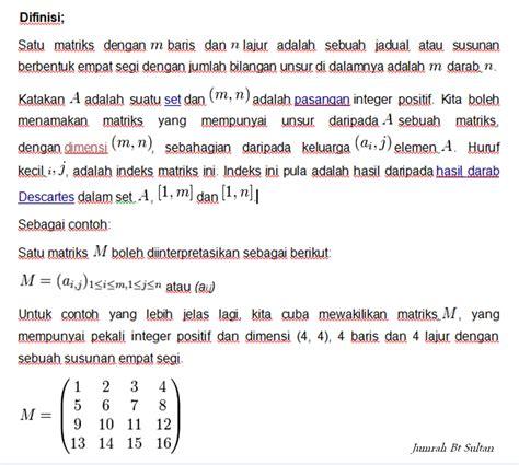 Aljabar Dan Teori Berhitung 1 Untuk Sltp cikgu jumrah tokoh tokoh dansejarah perkembangan matriks