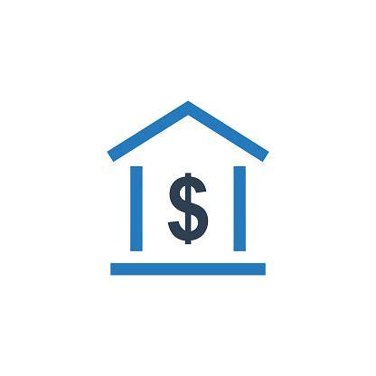 home loan icon concept real estate icon stock illustration