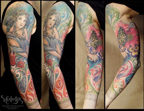 art nouveau tattoo the map