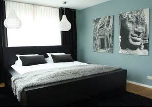 Mint green and black bedroom black contrasts a soothing