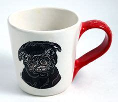 black pug pottery black pug puppy tumbler vase pencil holder in and brown by pugaboo on