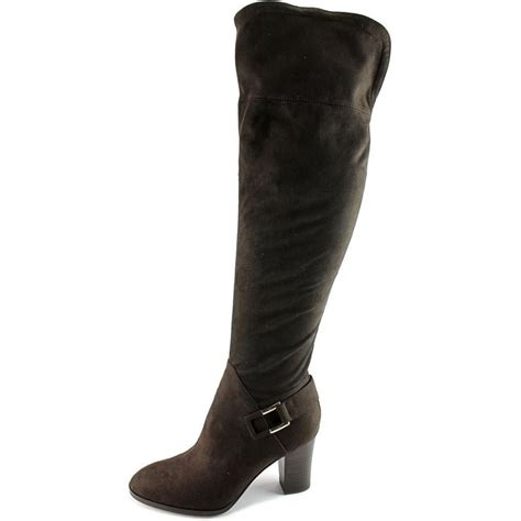 marc fisher christyna fabric black knee high boot boots