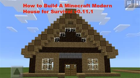 cool houses to build in minecraft pe how to build a cool modern minecraft pe house v0 12 1 youtube