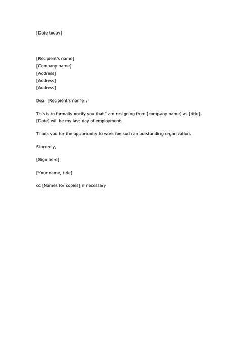 resignation letter sample email format best of job resigning letter