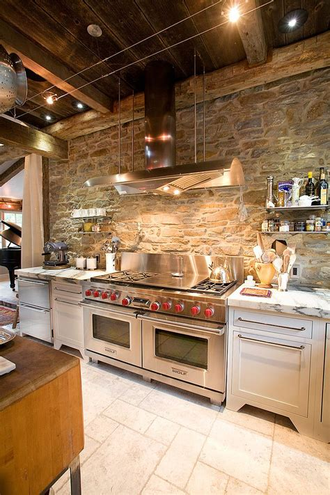 stone kitchen ideas 30 inventive kitchens with stone walls